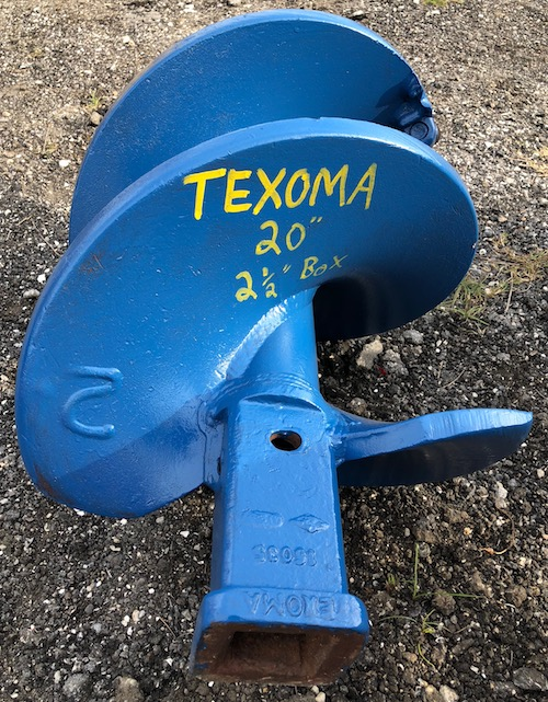 "20"""" Rock Auger Texoma"
