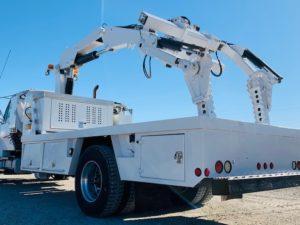 Tire Service Crane Boom Truck OTR