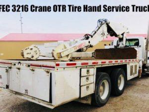Tire hand manipulator service crane truck for sale